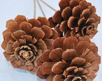 Pine Cone Roses | Pine Cones | Home Decor | Stemmed Pine Cones