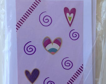 Noteworthy blank greeting cards-JAVA card collection-heart design