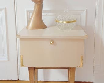 Small cabinet revamped vintage Scandinavian spirit
