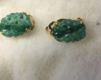 Ciner 1950's molded earrings