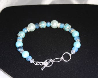 Light Blue Adjustable Elegant Bracelet