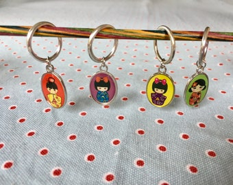 Japanese doll stitch markers