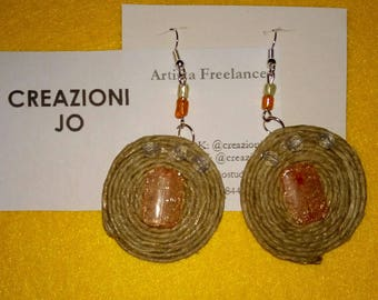 Rope earrings and beads