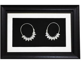 Silver Antique Earrings -Neb Jmal- Frame Wall Art