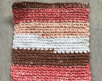 100% Cotton Crocheted Dishcloth / Washrag Without Border