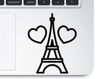 Love Paris Decal, Paris Sticker, Paris Decal, Love Paris Sticker, Laptop Decal, Eiffel Tower Decal, Eiffel Tower Sticker, Eiffel Tower,