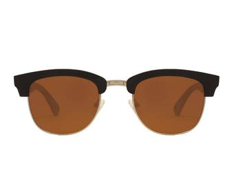 "Wooden sunglasses | Clubmaster sunglasses | Wooden model ""PRAGUE"" 