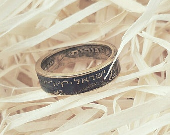 Ring from coin 5 agor Hanukkah. Country: Israel