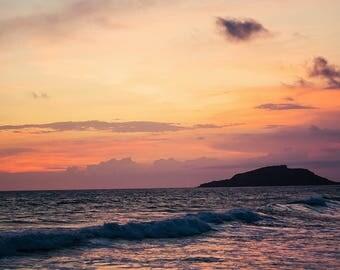 Beautiful sunset in Mazatlan
