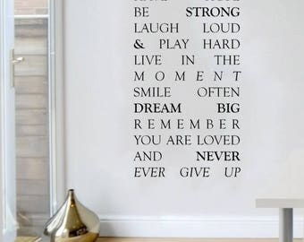 Have Hope Be Storing Laugh Loud & Play Hard | Wall Art | Wall Decoration | Home Decoration | Wall Sticker | Door Sticker