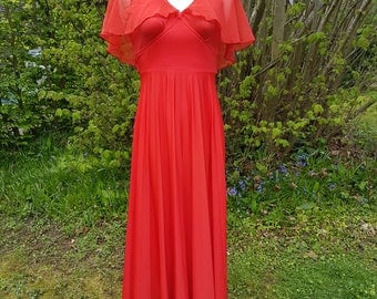 Stunning Vintage Red Full Length Dress