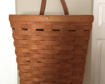LONGABERGER Wall Basket Spit Wood VINTAGE 1992