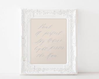 Love story - feminine bedroom decor - romantic print quote - someone special - true minimalistic wall art