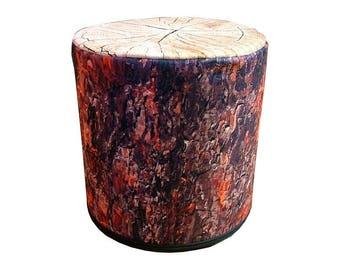 Decorative pouffe Pine – trunk's imitation 40x40cm Footstool Ottoman Pouf Felt