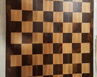 Walnut and Maple Checkerboard Cutting Board