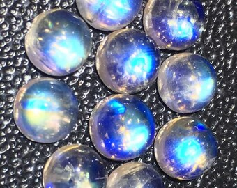 5 mm round rainbow moonstone lot price 10 dollar huge discount