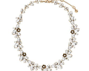 Rosette Statement Collar Necklace