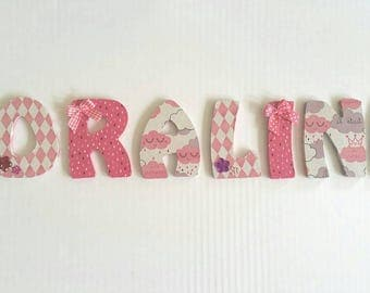 Letters for door decoration or wall decoration to order