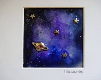 Small Galaxy Embellished Painting