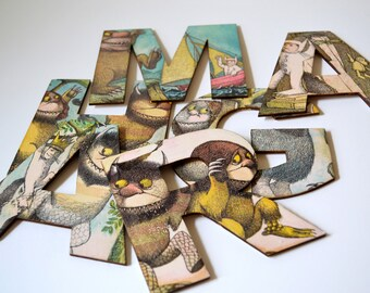 Where The Wild Things Are Nursery, Wild Things Party, Wooden Letters, Max's Crown, Personalised Letters, Boy's Adventure Travel Nursery