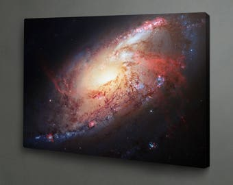 Spiral galaxy photo print on canvas