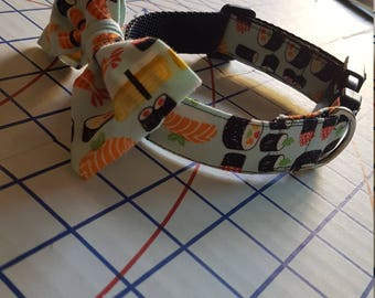 "Fang and Fur Dog collar- ""All you can eat sushi"""