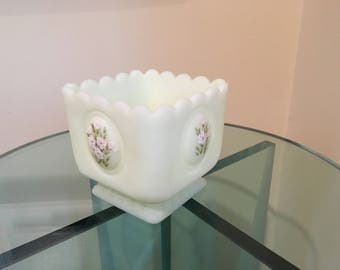 Fenton Custard Glass Collectible Signed by Kay C.