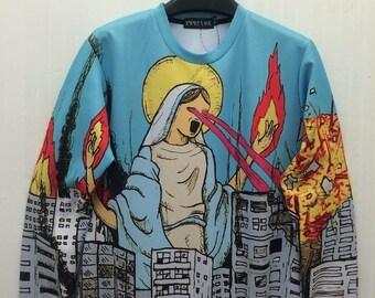 Virgin Mary Godzilla Sweatshirt