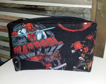 Deadpool Makeup/Zippered Pouch