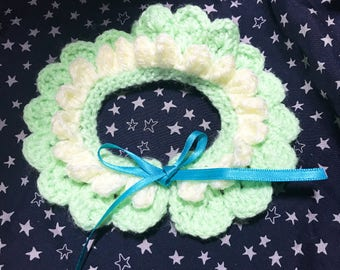 Crochet pet collar