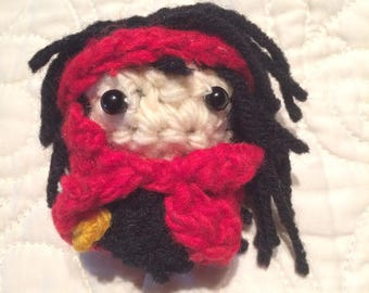 Vincent Valentine Final Fantasy VII Amigurumi Crochet Mini Handmade 7 cm Doll