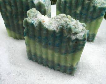 Salty sea bar                                                      Natural soap, handmade soap, epsom salt soap, lime bergamot soap
