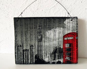 Photo on wood, wood gift, wood photo transfer, picture on wood,  wall decor London