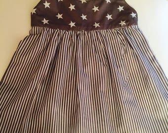 Stars and Stripes Slip on Summer Dress