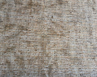 Cork Fabric -Silver Caiman Cork - EcoFriendly - Made in Portugal
