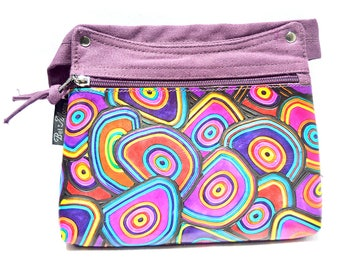 Canvas and Leather Belly Band Ethnical Style PURPLE - NEW