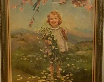 Adelaide HIEBEL spring lithograph