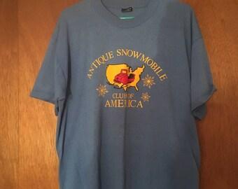 Vintage snowmobile shirt