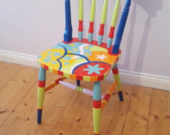 Hand Painted Retro Chair