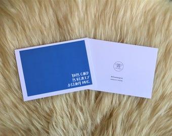 Giant Hug Blue Sympathy Card
