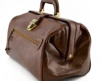 Genuine Leather Medical Bag with Front Pocket