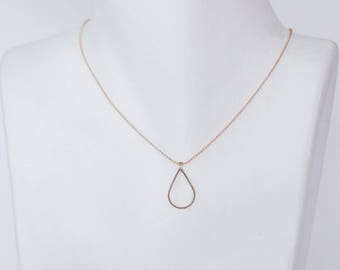 Minimalist drop necklace