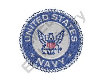 Navy - Machine Embroidery Design
