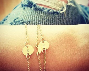 our gold initial bracelets, gold bracelets, gold filled, initial jewelry, personalized jewelry, jewelry, initials, gold