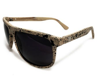U.S.O.M. | A\Wood Stardust - Occhiale da Sole, Puntinature a Contrasto / Sunglasses, Contrast Dots | Handmade in Italy