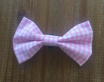 Pet Bow Tie- Pink Gingham