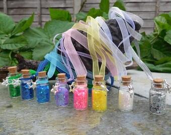 Glitter Fairy Dust Necklace, on organza ribbon