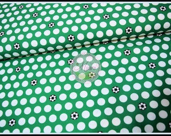 Football Soccer Jersey sporty dots green fabric