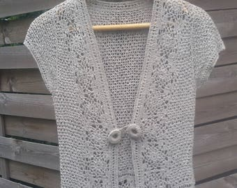crochet summer jacket   from linen