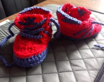 New! Crochet Baby sneakers 3-6 months